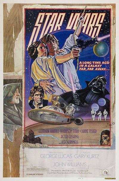"""Star Wars"" style D poster by Drew Struzan."